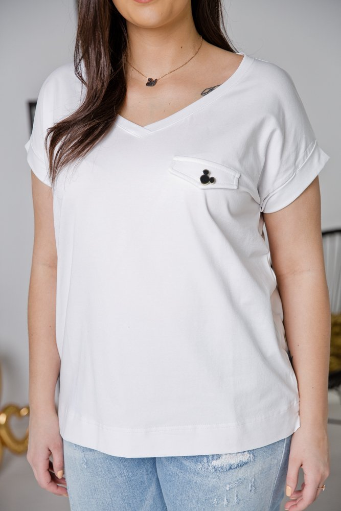 Biała Bluzka MINNIE Plus Size