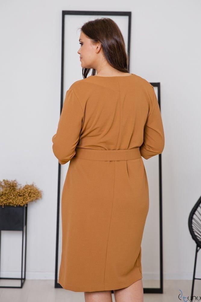 Camelowa Sukienka MATICA Plus Size