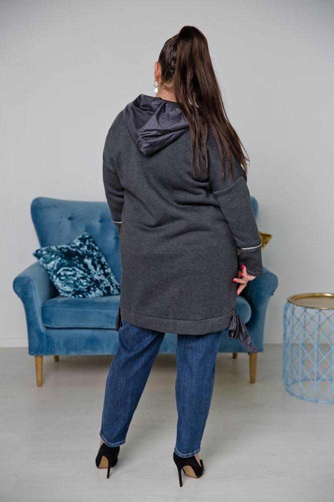 Ciemnoszara Bluza SEPIA Plus Size