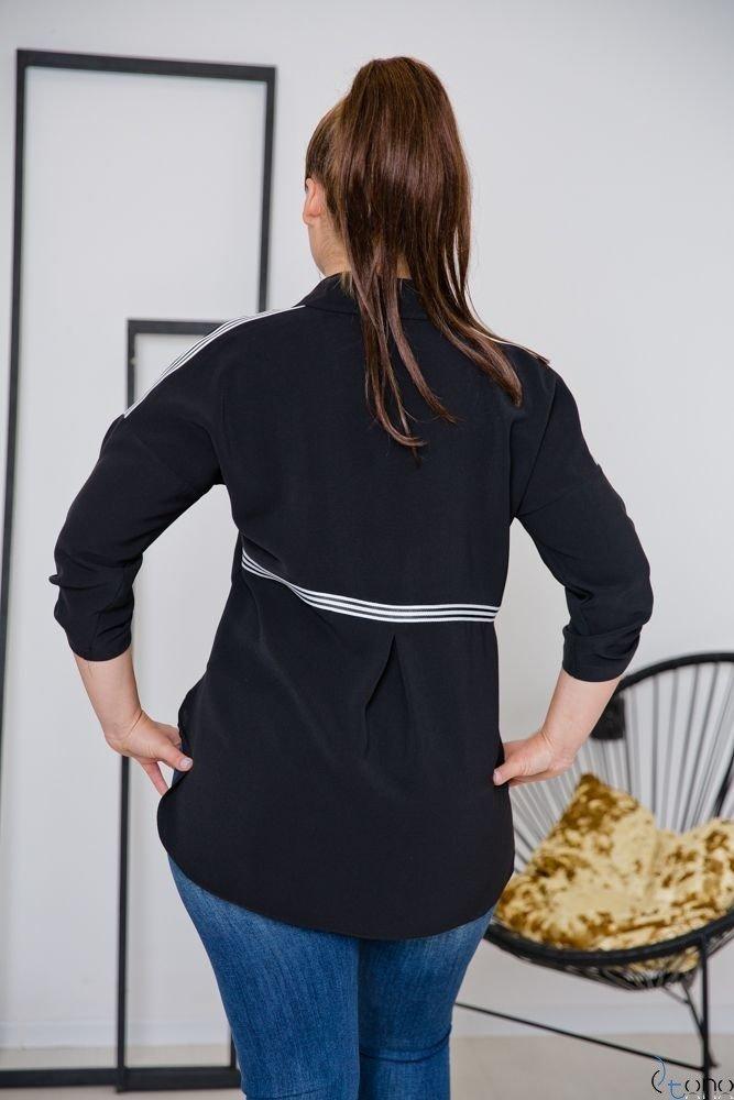 Czarna Koszula ERINA Plus Size