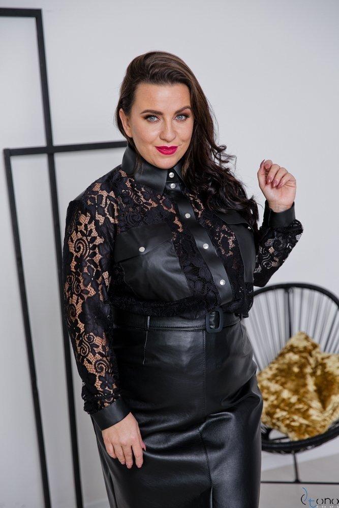 Czarna Koszula GENIAL Plus Size