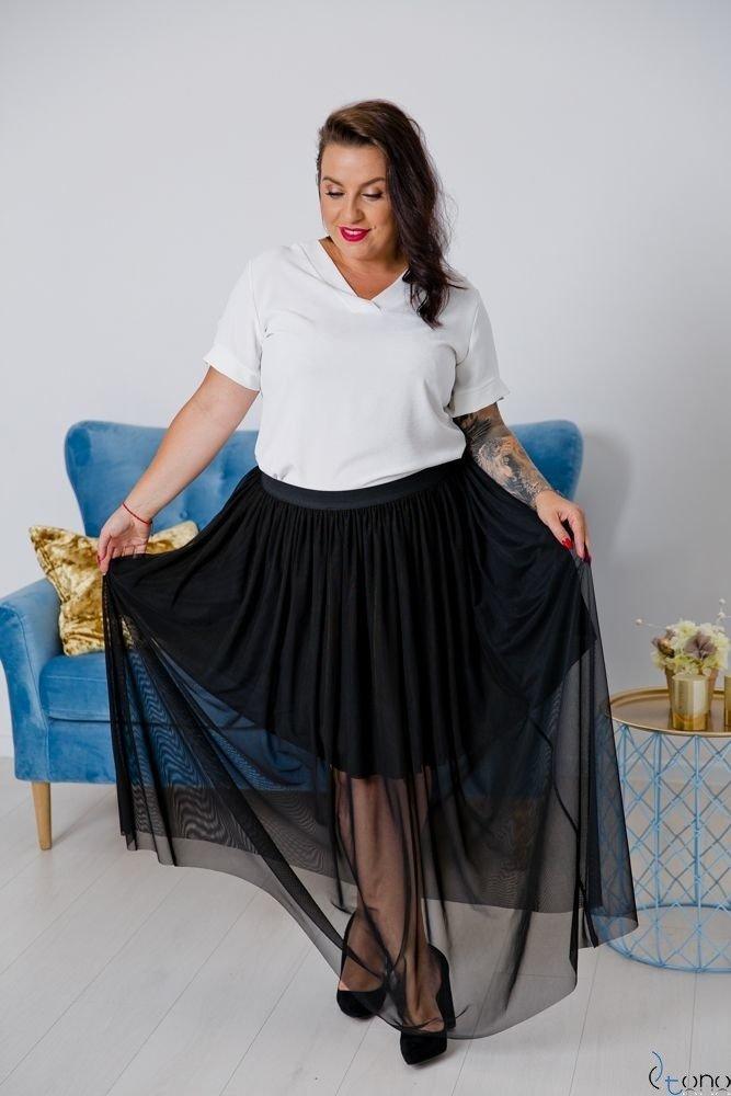 Czarna Spódnica VIMMI Plus Size