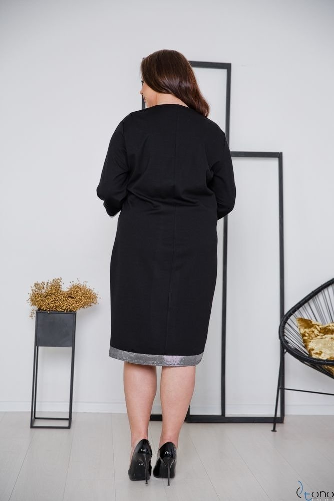 Czarna Sukienka KARL Plus Size