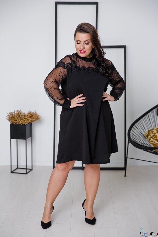 Czarna Sukienka KETRA Plus Size