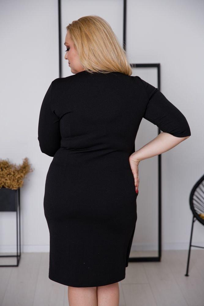 Czarna Sukienka MAGENTA Plus Size