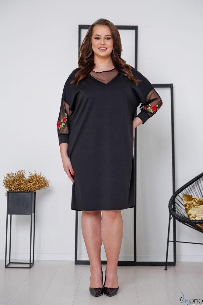 Czarna Sukienka MERRY Plus Size