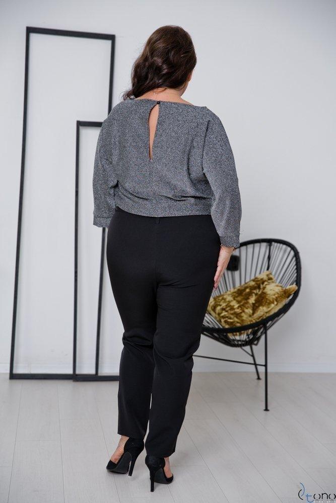 Czarno-Srebrny Kombinezon RIPASO Plus Size
