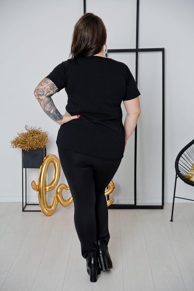 Czarno-złota Bluzka TEDDY Plus Size