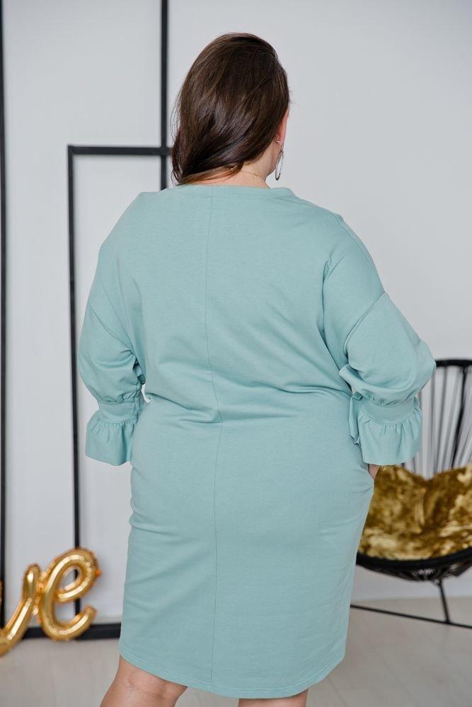 Miętowa Sukienka DISTINGA Plus Size