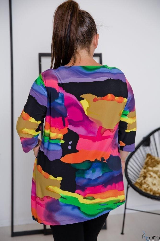 Multikolorowa Bluzka LOKKIA Plus Size