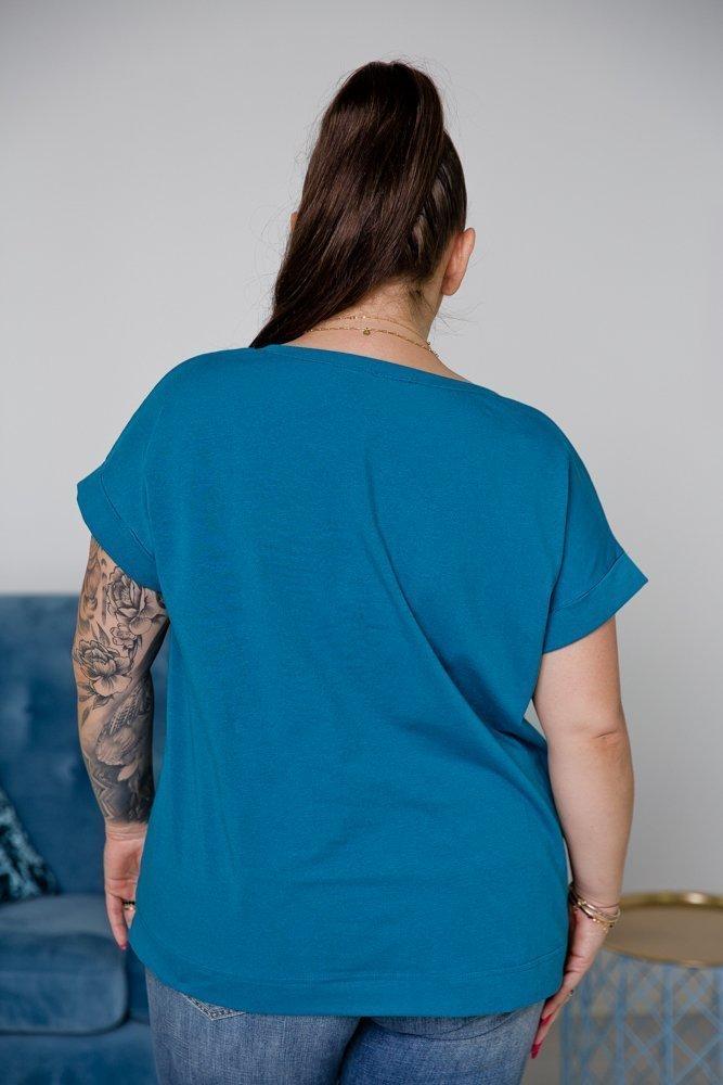 Niebieska Bluzka MINNIE Plus Size