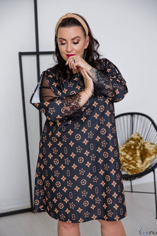 Sukienka LAPIZ Plus Size Wzór 1