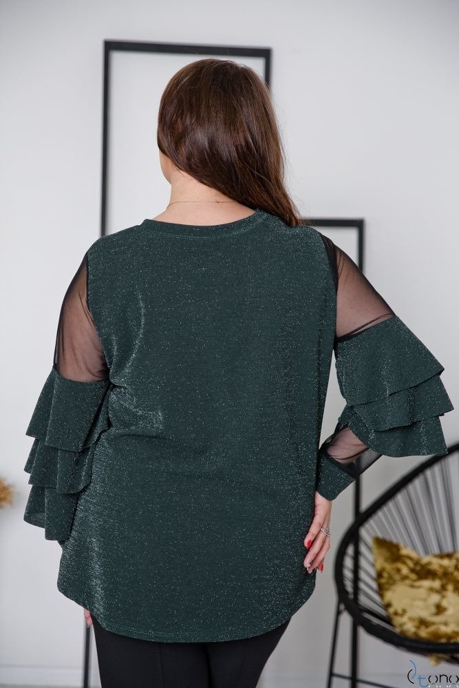 Zielona Bluzka CATANIA Plus Size