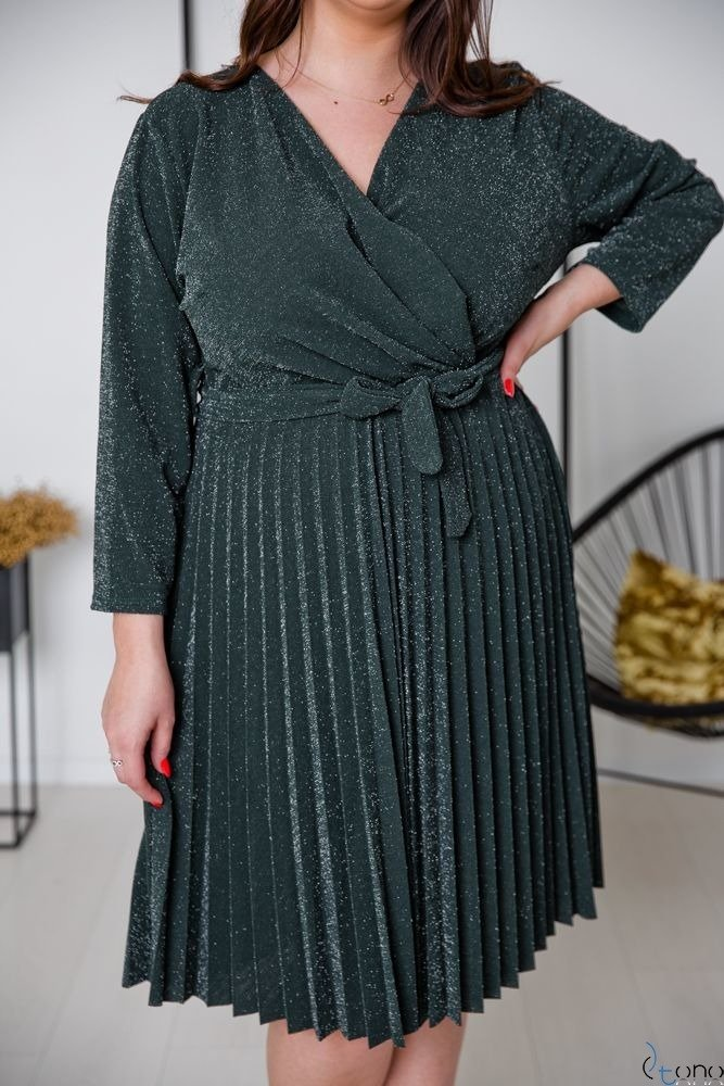 Zielona Sukienka FELICE Plus Size