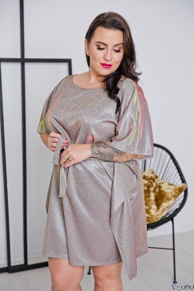 Złota Sukienka RAVEN Plus Size