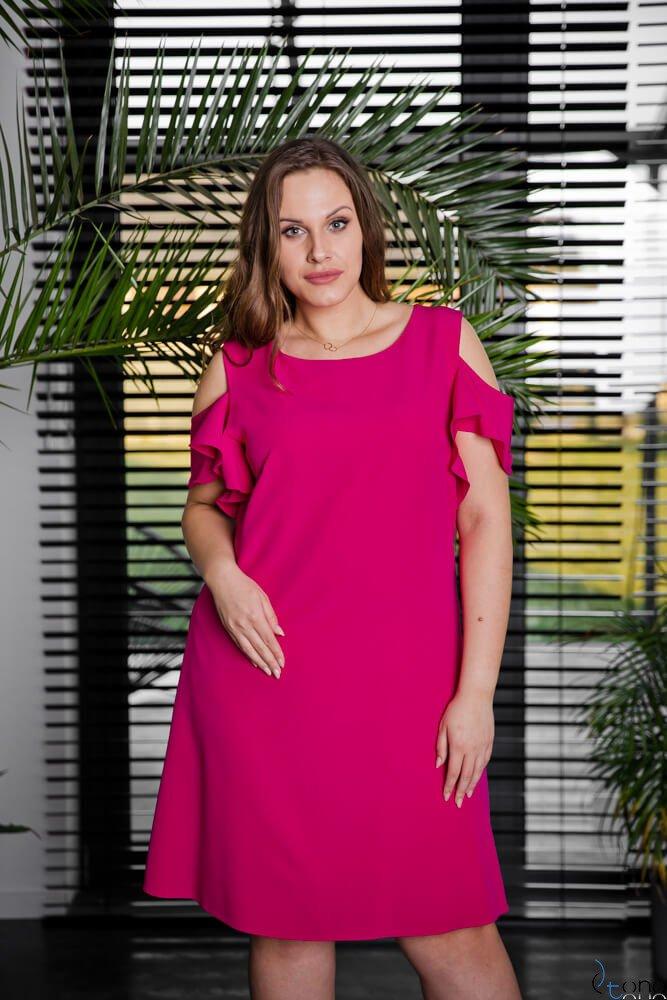 Amarantowa Sukienka BARBIE Plus Size