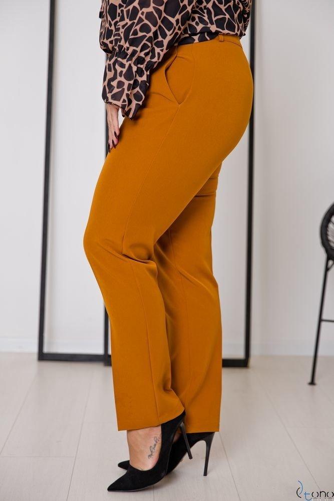 Camelowe Spodnie SETIA Plus Size