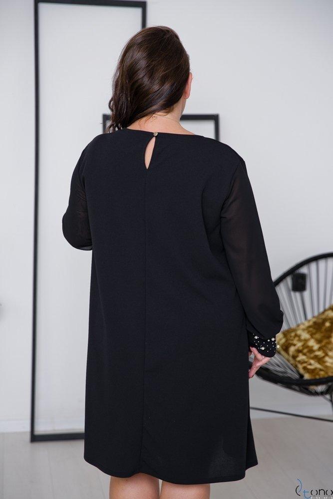 Czarna Sukienka DEVELEY Plus Size