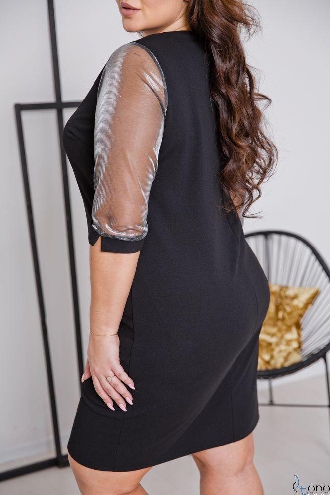 Czarna Sukienka DORYEN Plus Size