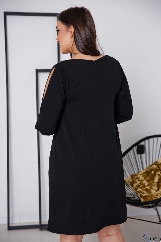 Czarna Sukienka NADALL Plus Size