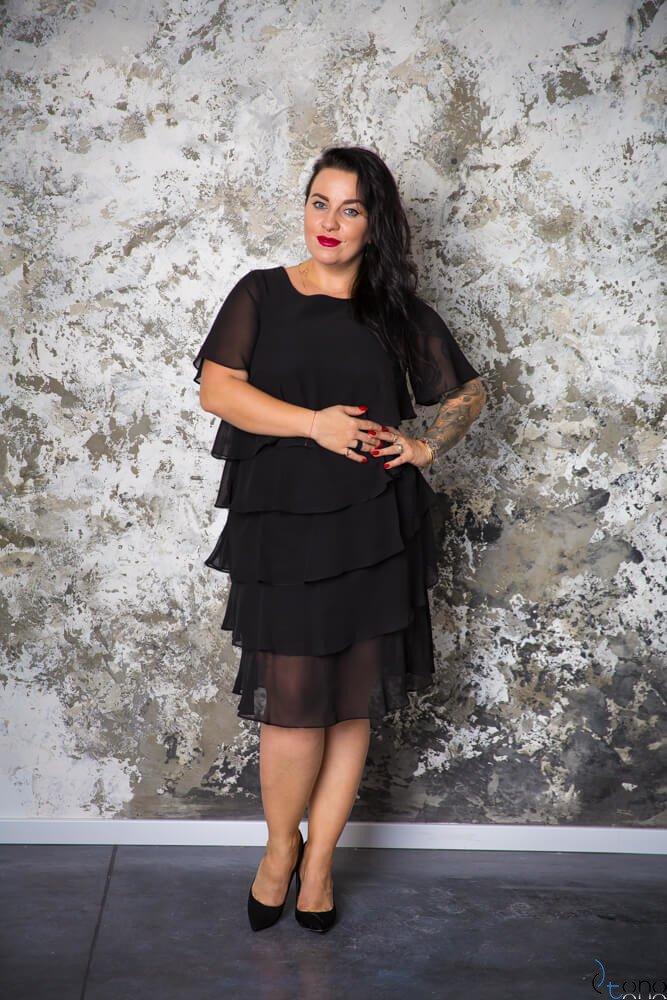 Czarna Sukienka ORINA Plus Size