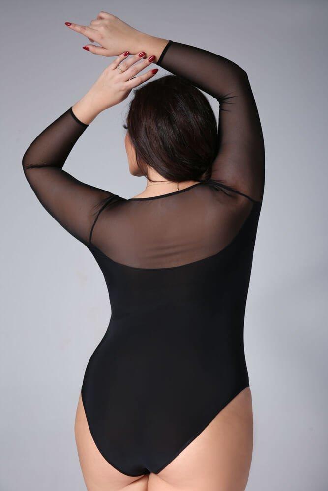 Czarne Body ASTRID Plus Size