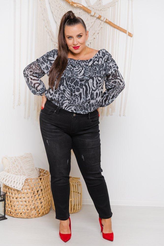 Czarne Spodnie TONES Plus Size
