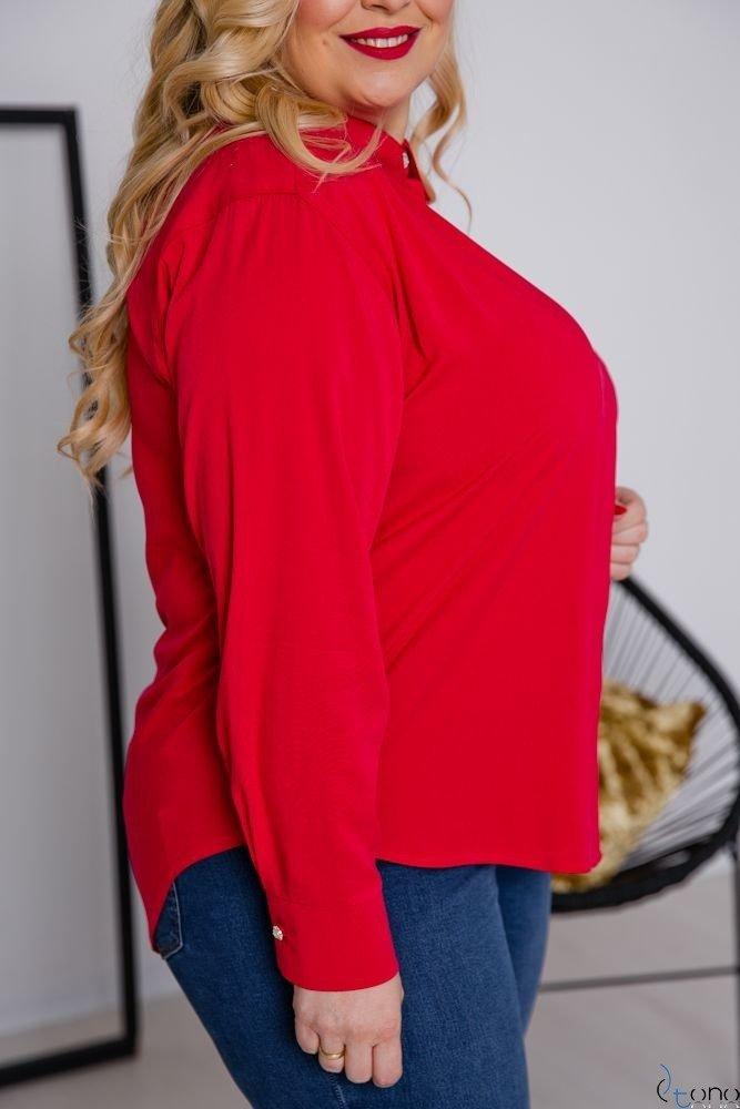 Czerwona Koszula FILARES Plus Size