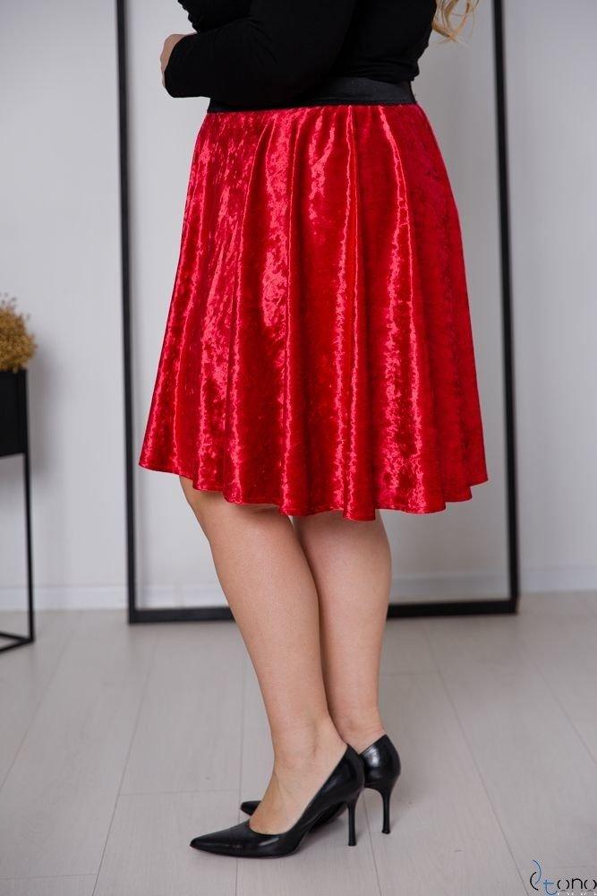 Czerwona Spódnica WELURA Plus Size