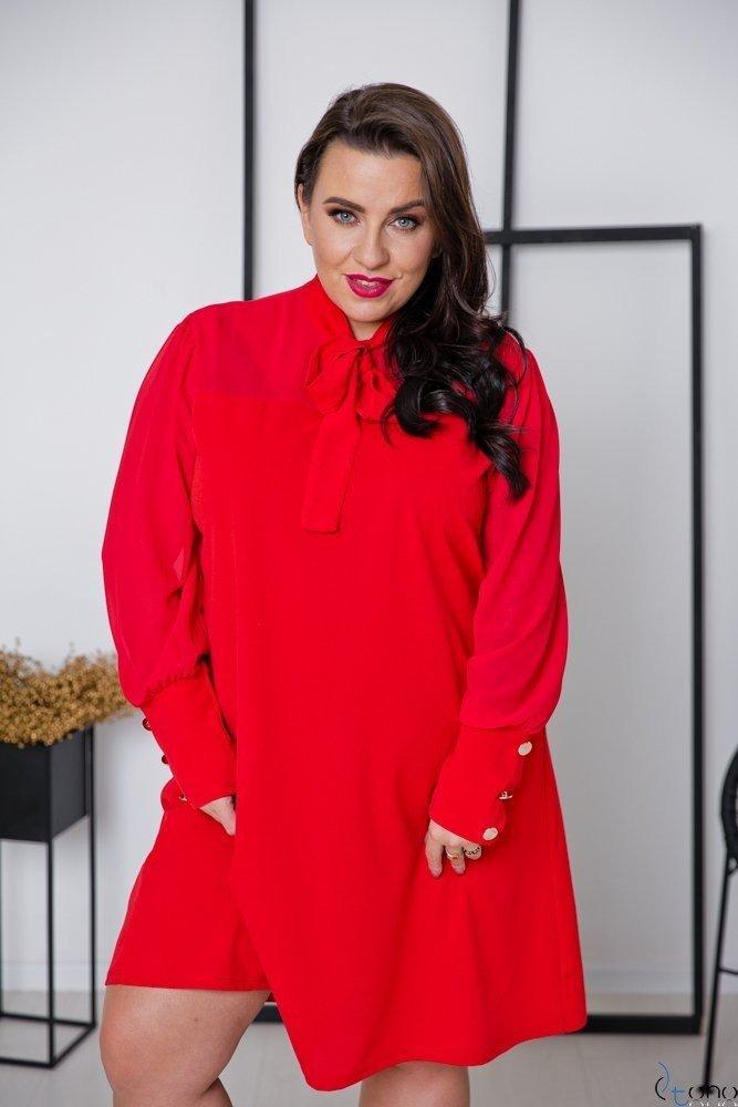 Czerwona Sukienka BJORK Plus Size