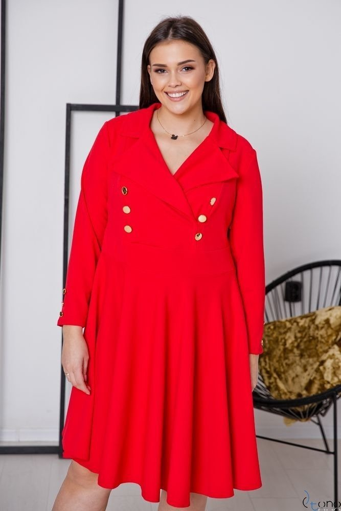 Czerwona Sukienka RECIFE Plus Size