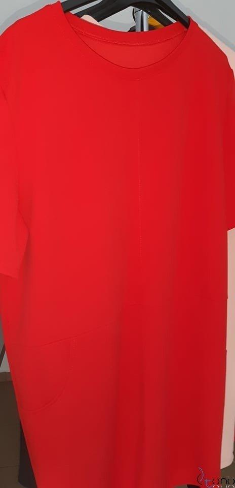 Czerwona sukienka CASTODIA Plus Size