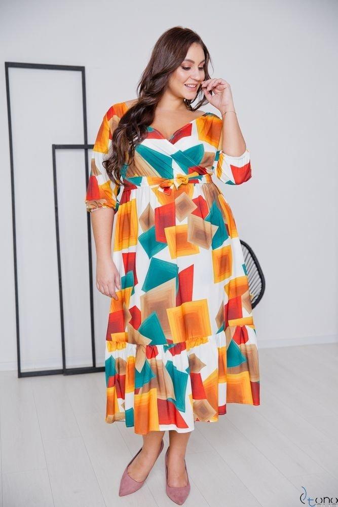 Multikolorowa Sukienka TRIANA Plus Size
