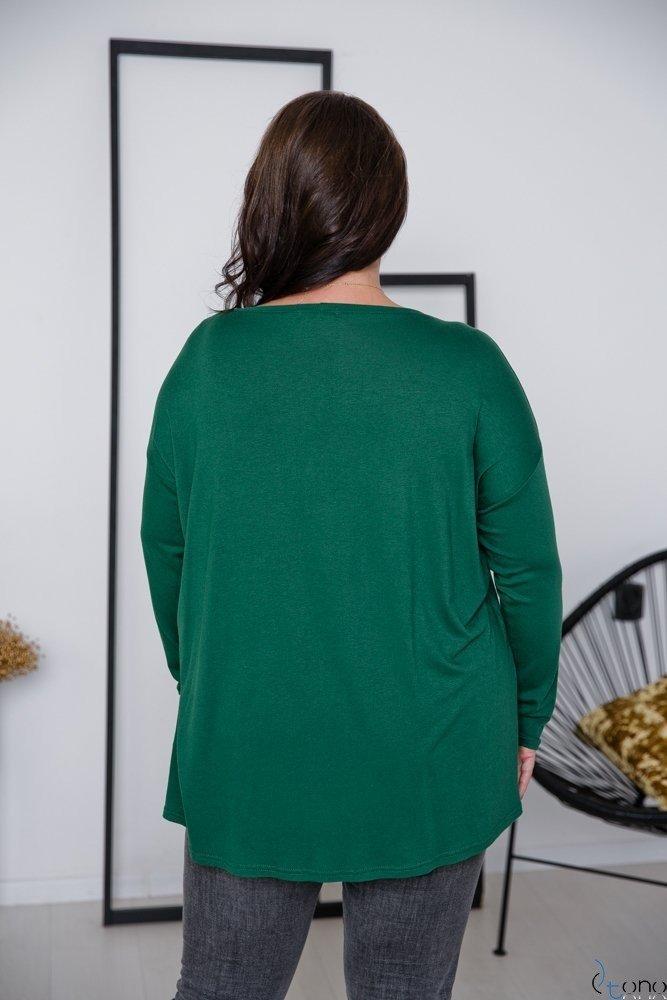 Zielona Bluzka POCKET Plus Size