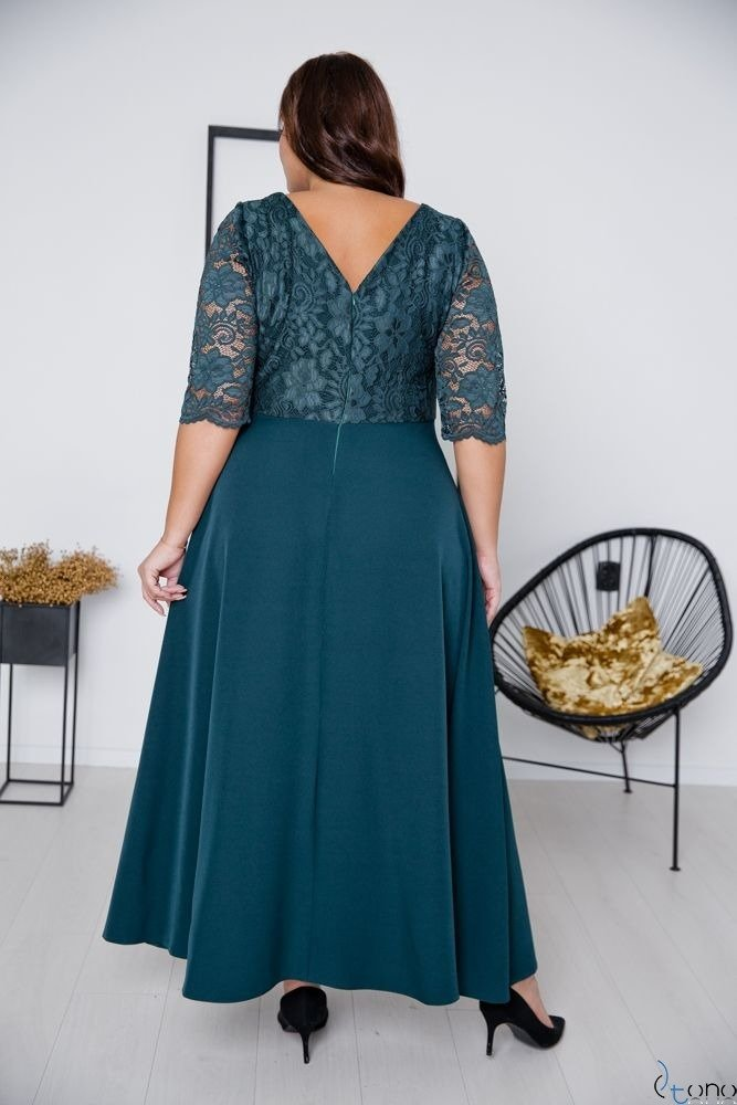 Zielona Sukienka ELIZ Plus Size