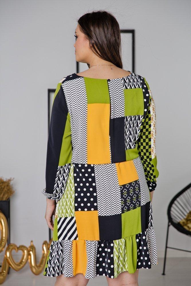 Zielona Sukienka FANTAZY Plus Size